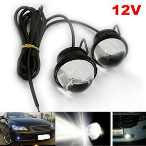 2Pc LED Fish Eye 5W Car Driving Fog Light Daytime Running DRL Bulb Flashing Spot
