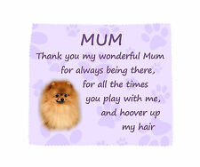 Pomeranian Thank You Mum Microfibre Glasses Lens Cloth Fun Gift FROM THE DOG