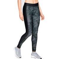 Under Armour UA HeatGear Black Ladies Printed Compression Running Leggings M