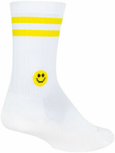 SockGuy SGX Smiley Socks | 6 inch | White/Yellow | S/M