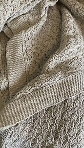 Large Knitted Grey Blanket Next