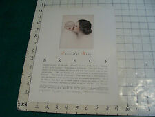 Original 1940's BRECK BEAUTIFUL HAIR  #4 single sided advertising info for store