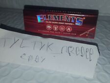 Elements Red 1 1/4 1.25 Slow Burn Hemp Rolling Papers (1 pack/50 leaves) by Raw