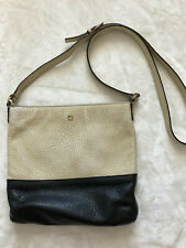Kate Spade Vintage Purse Crossbody Black White Leather Colorblock Small *stained
