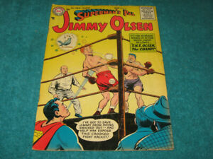 1956 Vintage Original Superman's Pal JIMMY OLSEN #11 DC Comics Nice G/VG