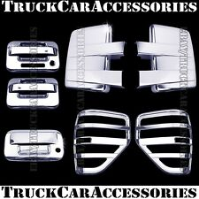 For FORD F150 2009-2014 Chrome Covers Tow Mirrors+2 Doors+Tailgate KH+Tail Light