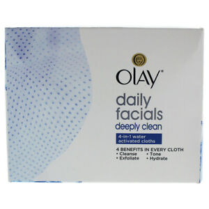 Olay 4-In-1 Daily Facial Cloths For Combination/Oily Skin 33 Pc Skincare
