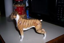 "Beautiful Beswick Brindle Boxer ""Blue Mountain Greta"" Model #1202, 5 1/2"" Tall"