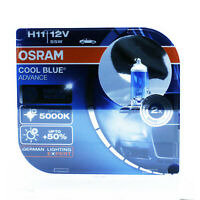 2x OSRAM H11 PGJ19-2 55W 12V COOL BLUE © ADVANCE 5000K XENON EFFECT HYPER+