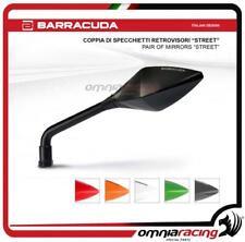 Barracuda 2 Specchietti retrovisori Universali STREET moto Naked colore Nero