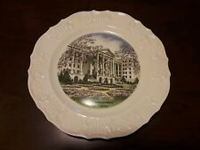 """Very Stylish 10"""" Greenbrier Hotel Souvenir Plate From Deland Studios"""
