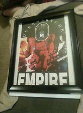 Queensryche Empire Double Platinum Promo Poster Ad Framed!