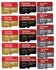 Micro SD Card SanDisk 16GB 32GB 64GB 128GB 200G 256GB 512GB Ultra Extreme Memory