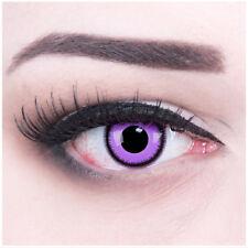 Farbige Kontaktlinsen Purple Lunatic Fasching Halloween violett GRATIS Behälter