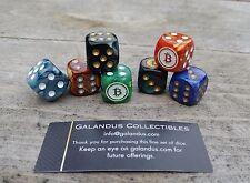 Galandus Bit coin dice set - 7 awesome color set NIB (casascius, lealana)