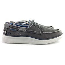 Skechers Men's Status 2.0 Lorano Classic Fit Black Casual Boat Shoes Size 11 M