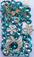 Full Bling Diamond Jewelled Crystal Leather Flip Wallet Card Case Stand Cover 33