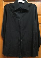 GIANNI VERSACE COUTURE Black Dress Shirt Sz 48 Med. Button Up