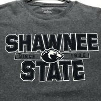 Shawnee State SSU Bears Champion Adult Graphic T Shirt Spellout Large L Gray