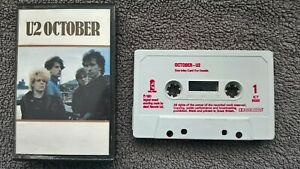 U2 - OCTOBER .             Cassette Tape.