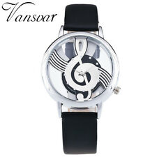 Women's Casual Retro Quartz Watch Ladies Leather Band Strap Analog Wrist Watches Black
