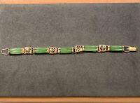 Chinese 14k Gold Jade Bracelet