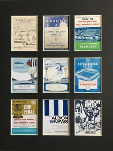 """West Bromwich Albion Football Vintage Programme Picture 14"""" By 11"""" Free Postage"""