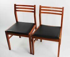 Pair of Retro Danish Style Teak Dining Chairs [ 5852 D ]
