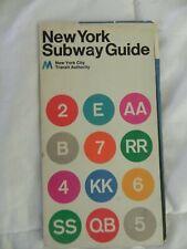Vintage 1972 New York City Subway Map Guide- MOMA Massimo Vignelli Design!