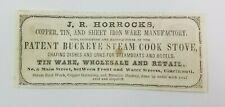 1851 Cincinnati Ohio Print Advertisement JB Holmes Washboard Factory Horrocks