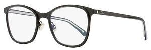 Dior Rectangular Eyeglasses Montaigne 42 FIE Black 52mm