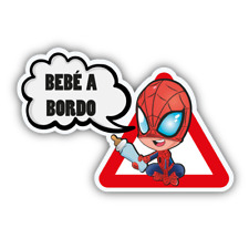 BEBE A BORDO SPIDERMAN VINILO PEGATINA VINYL STICKER DECAL AUFKLEBER COCHE CAR
