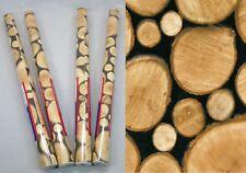4er Set Klebefolie Holz-Scheiben Möbelfolie Dekorfolie Holzdekor je Rolle 45x200