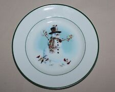 Lenox Winter Welcome Salad Plate Porcelain Christmas Lynn Bywaters Green Band