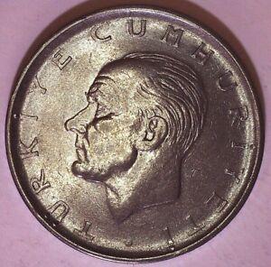 Turkey 1 Lira 1971 Almost Uncirculated Coin - Kemal Ataturk