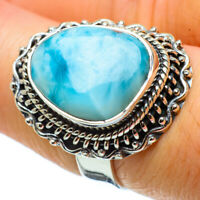 Larimar 925 Sterling Silver Ring Size 7.25 Ana Co Jewelry R32897F