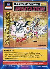Tarjeta de Digimon - opción de alimentación - al campeón