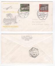 1963 GERMANY First Flight Cover FRANKFURT to PALMA DE MALLORCA Lufthansa LH178