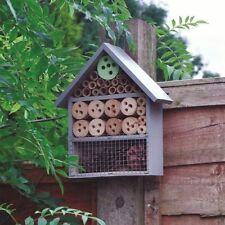 Large Insect Bee House Bug Wooden Hotel Natural Wood Shelter Garden Nest Box NEW