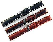 Hadley Roma Heavy Pad Oil Tanned Leather Watch Band