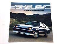 1983 Shelby Charger Dodge Original Car Sales Brochure Catalog