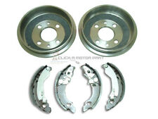 FIAT PUNTO 55 60 75 1993-1999 REAR 2 BRAKE DRUMS & SET OF SHOES NEW (NO ABS)