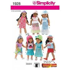 SIMPLICITY SEWING PATTERN 18 INCH (45CM) DOLL CLOTHES DRESS TOP   1928
