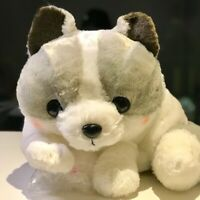 Brand New Amuse konkon Fox Plush Stuffed Doll Toy Grey Japan Authentic