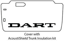 1963 1964 Dodge Dart Trunk Rubber Floor Mat Cover with MA-015 Dodge Dart