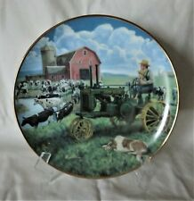 Days of Splendor Farmland Memories by Mort Kunstler John Deere Tractor Plate- 8""
