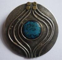 Unikat BROSCHE SILBER 900 mit blauem Stein wohl nach 1945 ca. 8,8 gramm