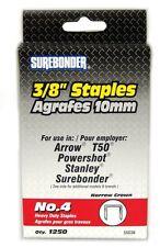 "SUREBONDER No. 4 3/8"" Heavy Duty Staples Narrow Crown 1250 Pack"