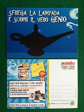 8010 Advertising Pubblicita' Cartolina Card - 15x10 cm - NUTELLA SNACK & DRINK