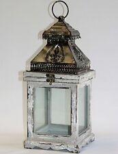 Laterne Windlicht Gartenlaterne Kerzenständer Vintage Landhaus grau 1307904